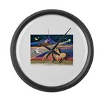 Xmas Star Buckskin Horse Large Wall Clock