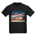 Xmas Star Buckskin Horse Kids Dark T-Shirt