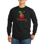 Cherry Long Sleeve Dark T-Shirt