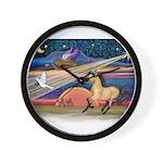 Xmas Star Buckskin Horse Wall Clock