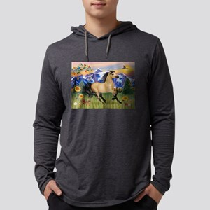Mountain Country Buckskin Hor Mens Hooded Shirt