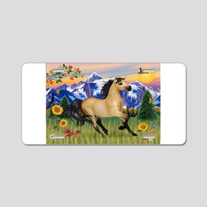Mountain Country Buckskin Hor Aluminum License Pla