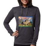 Cloud Star & Buckskin horse Womens Hooded Shir