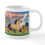 Cloud Star & Buckskin horse 20 oz Ceramic Mega