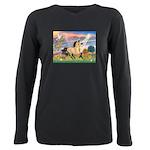 Cloud Star & Buckskin horse Plus Size Long Sle