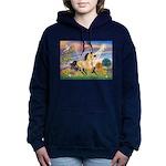 Cloud Star & Buckskin horse Women's Hooded