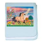 Cloud Star & Buckskin horse baby blanket