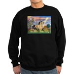 Cloud Star & Buckskin horse Sweatshirt (dark)