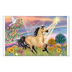 Cloud Star & Buckskin horse Sticker (Rectangle