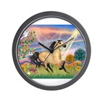 Cloud Star & Buckskin horse Wall Clock