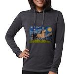 Starry Night Buckskin Womens Hooded Shirt