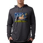 Starry Night Buckskin Mens Hooded Shirt