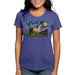 Starry Night Buckskin Womens Tri-blend T-Shirt
