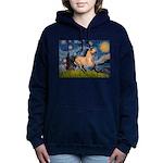 Starry Night Buckskin Women's Hooded Sweatshir