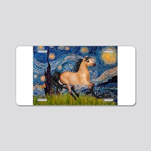 Starry Night Buckskin Aluminum License Plate