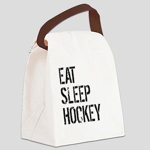 Eat Sleep Hockey Canvas Lunch Bag