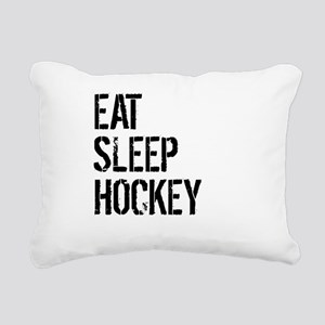 Eat Sleep Hockey Rectangular Canvas Pillow