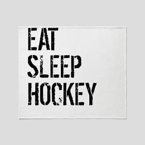 Eat Sleep Hockey Throw Blanket