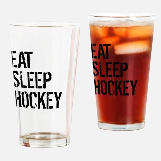 Eat Sleep Hockey Drinking Glass