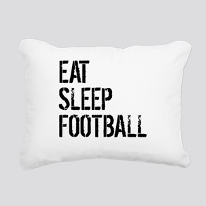 Eat Sleep Football Rectangular Canvas Pillow
