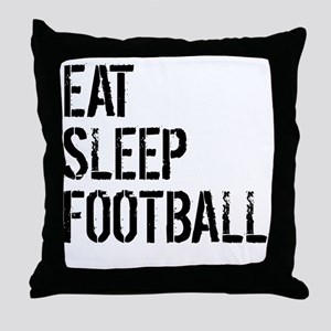 Eat Sleep Football Throw Pillow