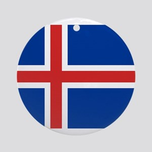 Iceland Flag Round Ornament