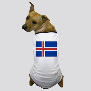 Iceland Flag Dog T-Shirt