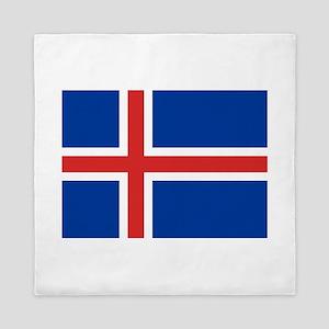 Iceland Flag Queen Duvet