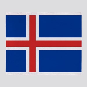 Iceland Flag Throw Blanket
