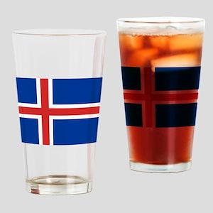 Iceland Flag Drinking Glass