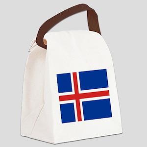 Iceland Flag Canvas Lunch Bag