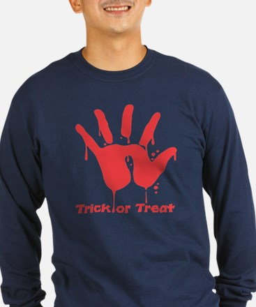 Black Trick or Treat Hand T