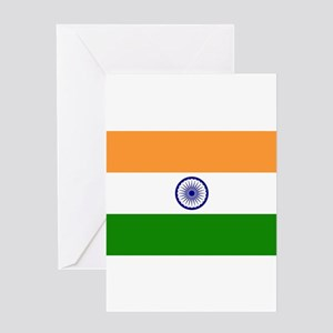 India Flag Greeting Cards