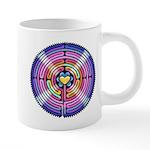 Labyrinth4-with shine1 20 oz Ceramic Mega Mug