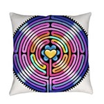 Labyrinth4-with shine1 Everyday Pillow