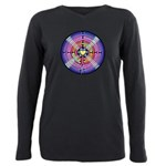Labyrinth4-with shine1 Plus Size Long Sleeve T