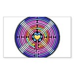 Labyrinth4-with shine1 Sticker (Rectangle 50 p