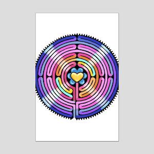 Labyrinth4-with shine1 Mini Poster Print