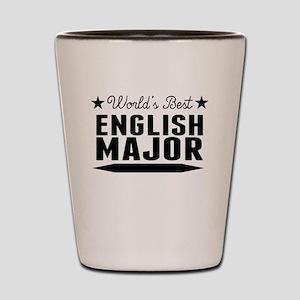 World's Best English Major Shot Glass
