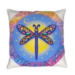 R-LGLG-Dragonfly-sun-border1 Everyday Pillow