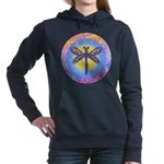 R-LGLG-Dragonfly-sun-border1 Women's Hooded Sweats