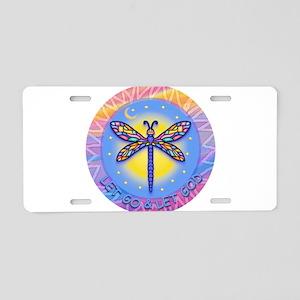 R-LGLG-Dragonfly-sun-border1 Aluminum License Plat
