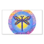 R-LGLG-Dragonfly-sun-border1 Sticker (Rectangle 50