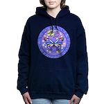 R-LGLG-Blue-Purp-B-FLY Women's Hooded Sweatshirt