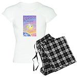 T-LGLG-Dove-World Women's Light Pajamas