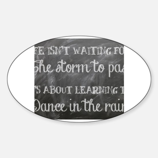 Funny Dance in the rain Sticker (Oval)
