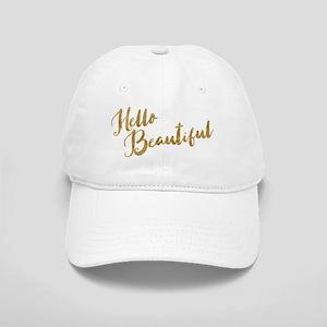 Hello Beautiful Faux Gold Baseball Cap