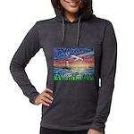 Lighthouse Seagull Womens Hooded Shirt
