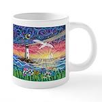 Lighthouse Seagull 20 oz Ceramic Mega Mug