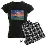 Lighthouse Seagull Women's Dark Pajamas
